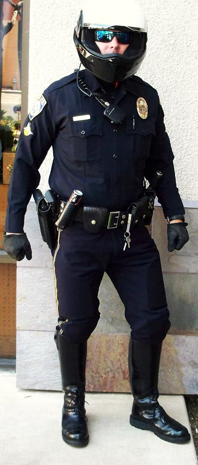 1327010854_Steve in LA Dark Blue Kevlar Shirt and Tuck in boot BDU Pant