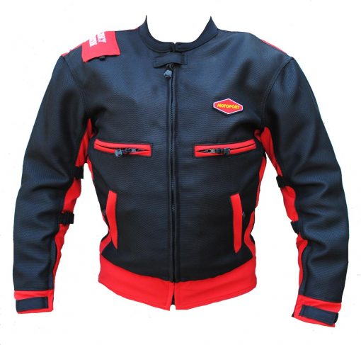 AIR MESH JACKET BLK RED  510x487